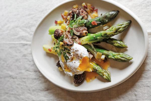 Asparagus With Morel Mushrooms Recipe Silver Oak Food Wine